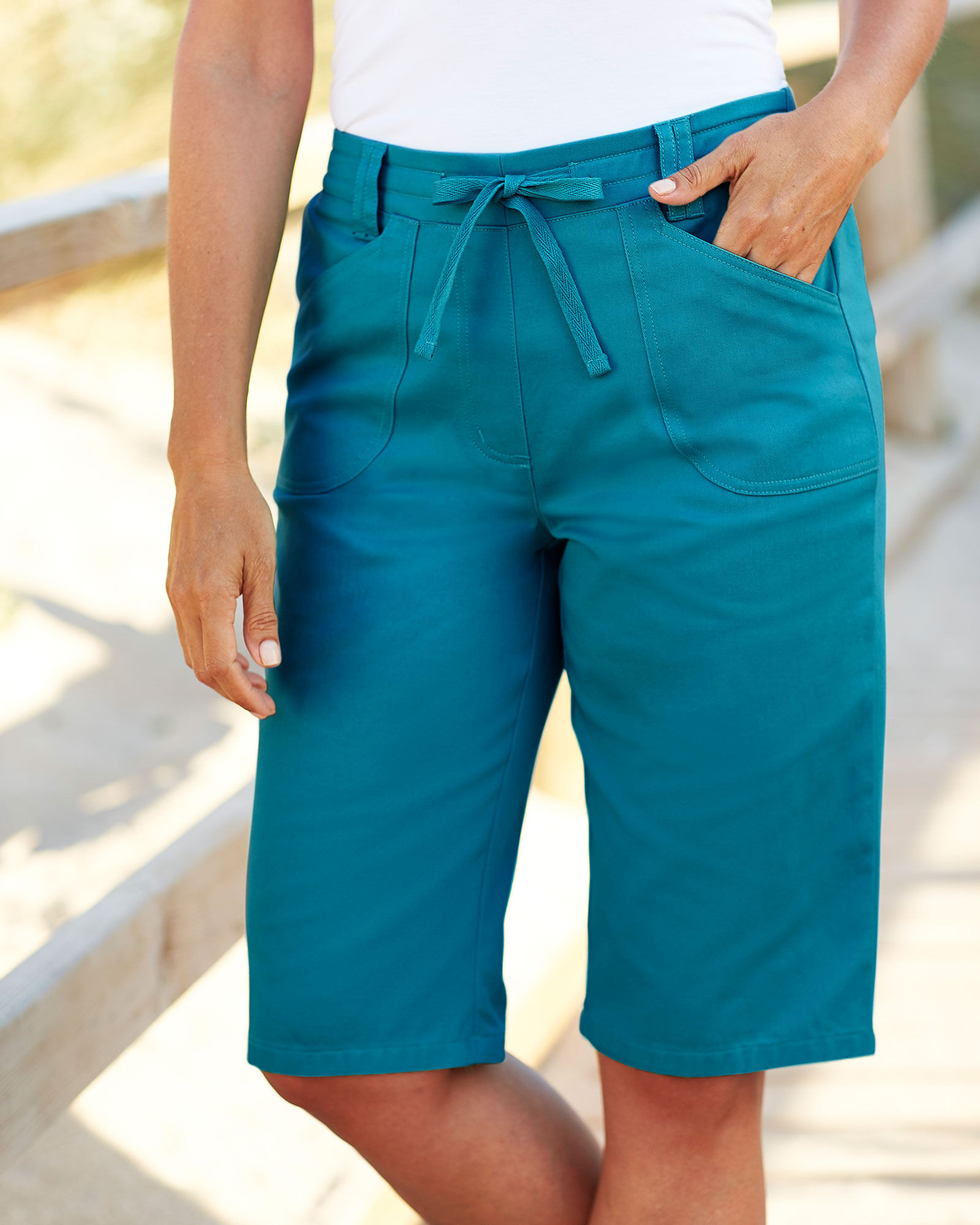Cotton Traders Womens Ladies Casual Design Wrinkle Free Pull On Shorts 34cm