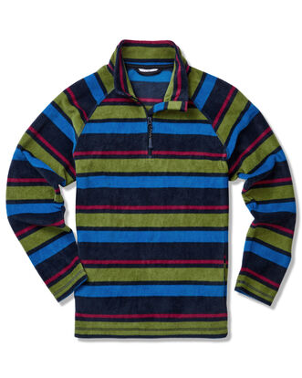 Recycled Stripe Microfleece Half Zip Top