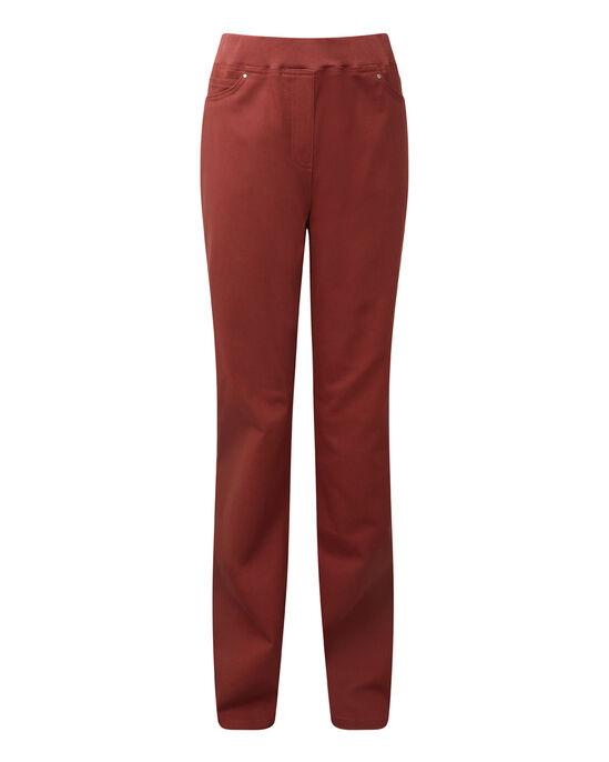 Pull-on Rib Waist Jeans