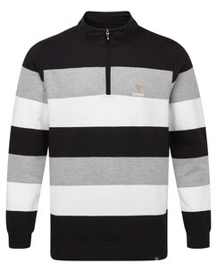 Guinness Half Zip Stripe Sweat Top