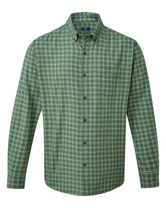 Long Sleeve Tattersall Twill Check Shirt