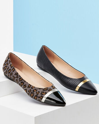 Pointed Animal Print Shoes