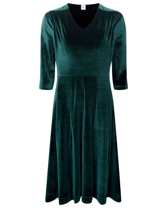 Tummy Control Velour Midi Dress