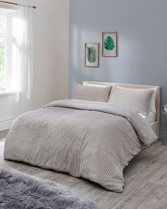 Ribbed Fleece Duvet Set