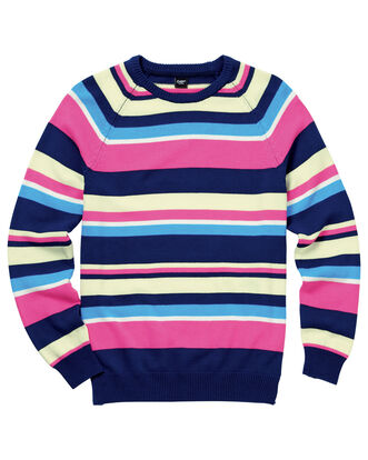 Stripe Cotton Crew Neck Jumper