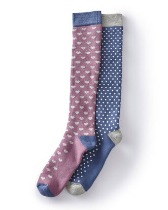 2Pk Knee High Socks