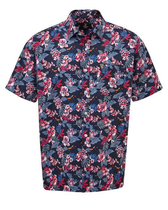 Guinness® Short Sleeve Soft Touch Hibiscus Toucan Shirt