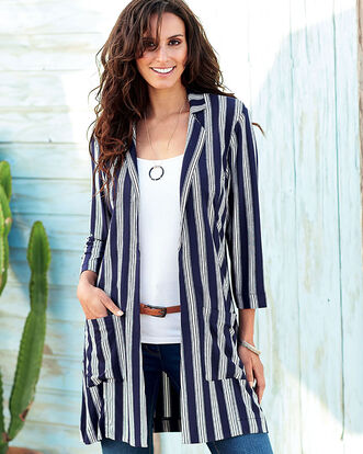 Stripe Longline Jacket
