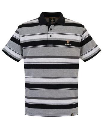 Guinness® Short Sleeve Variated Stripe Polo Shirt