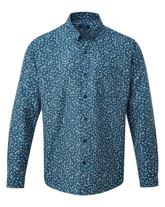 Ditsy Print Long Sleeve Soft Touch Shirt