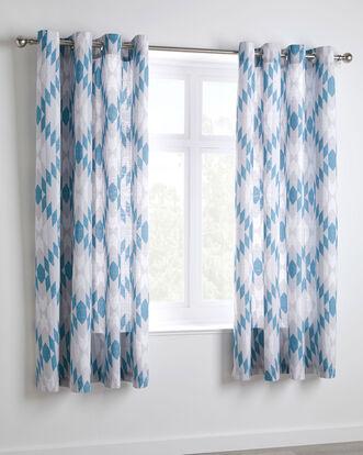 """Marrakesh Eyelet Curtains 66x72"""""""