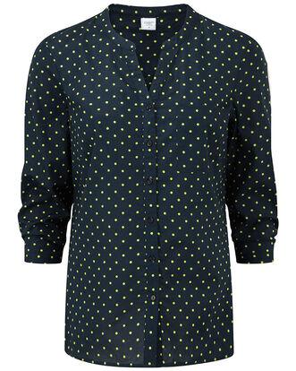 3/4 Sleeve Spot Print Blouse