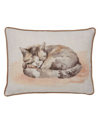 Sleeping Kitten Cushion