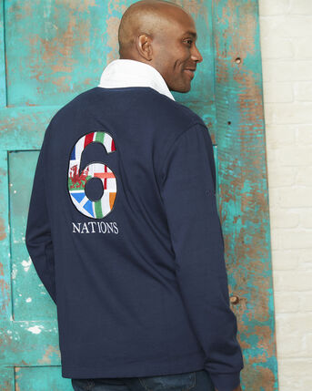 6 Nations Long Sleeve Rugby Shirt
