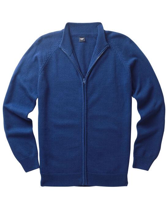 Cotton Zip-through Cardigan