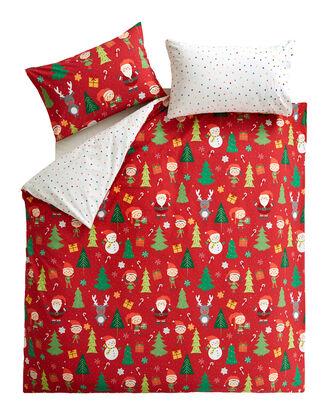 Elf and Santa Duvet Set