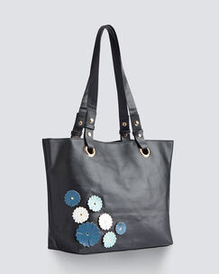 Flower Applique Tote Bag