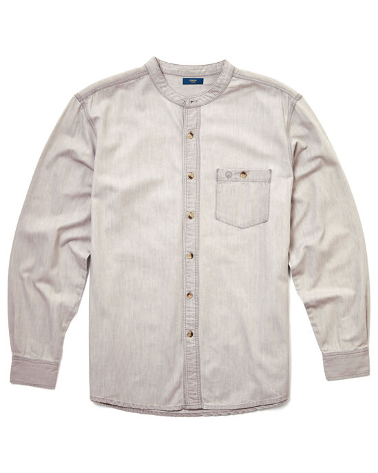 Long Sleeve Denim Grandad Shirt