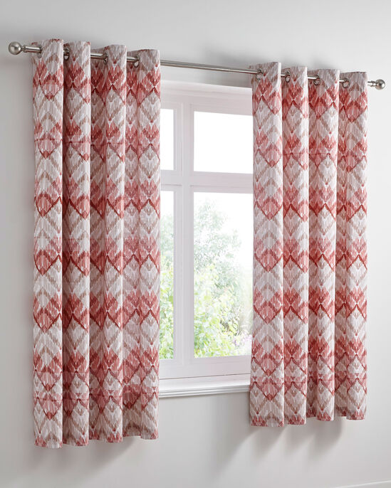 "Havana Eyelet Curtains 66x72"""