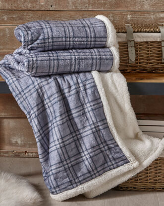 Tartan Sherpa Throw