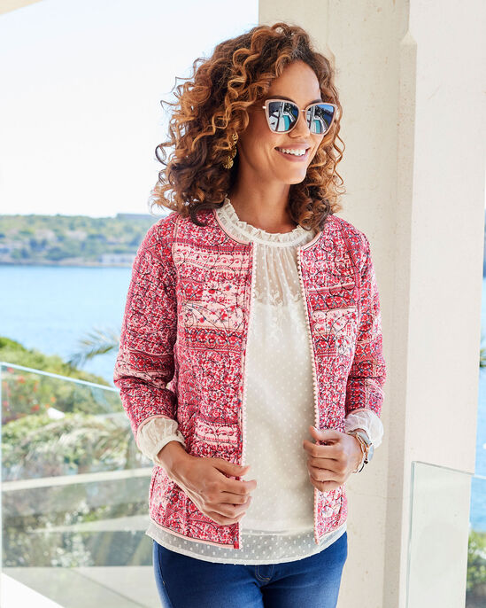 Reversible Embroidered Quilted Jacket