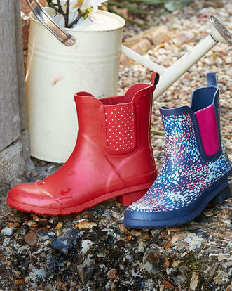 Printed Ankle Wellington Boots