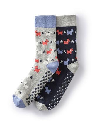 Pack of 2 Patterned Slipper Socks