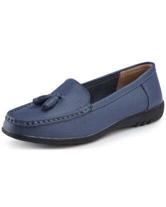 Leather Flexisole Tassel Loafers