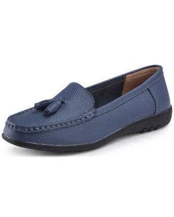 Leather Flexisole Tassel Loafers