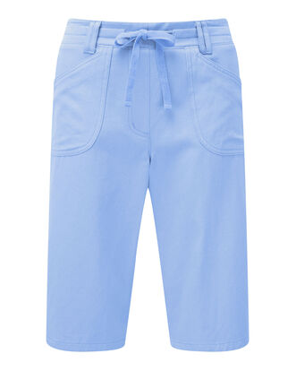 Soft Blue Wrinkle Free Pull-on Shorts