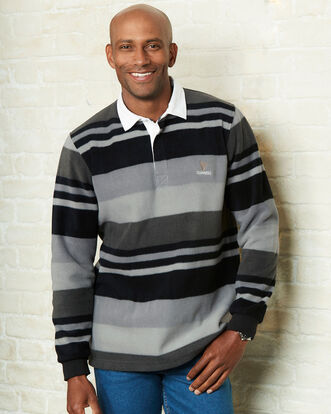 Guinnes Stripe Fleece Rugby Shirt