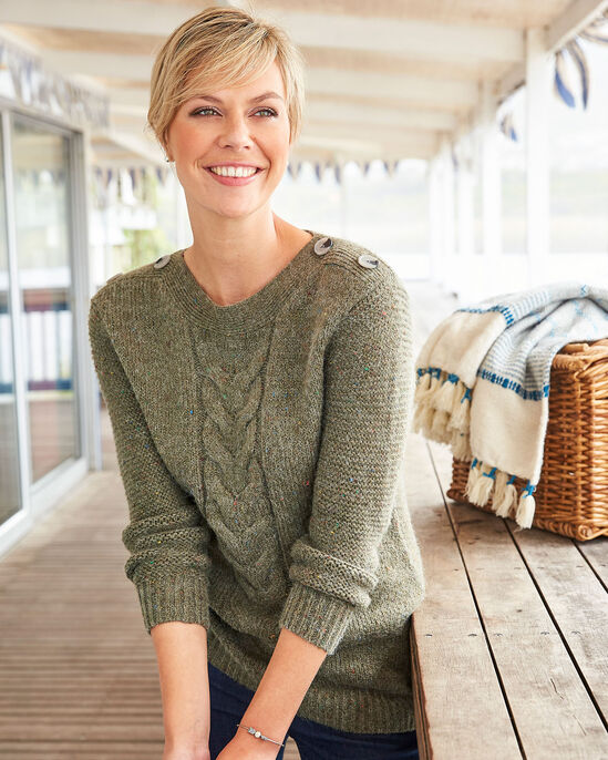 Flecked Cable Jumper