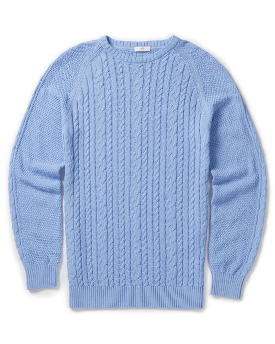 Cotton Cable Crew Neck Jumper