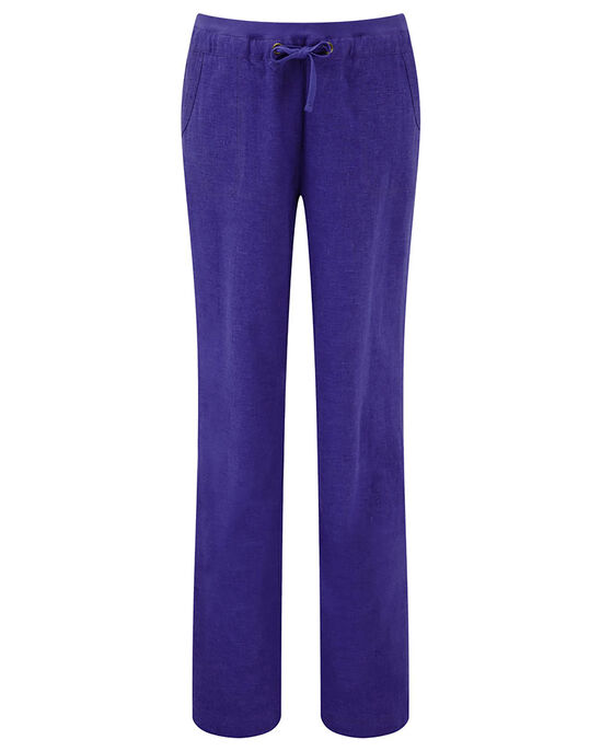 Linen Blend Drawcord Trousers