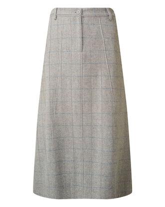 Grey Side Elasticated Waist Skirt