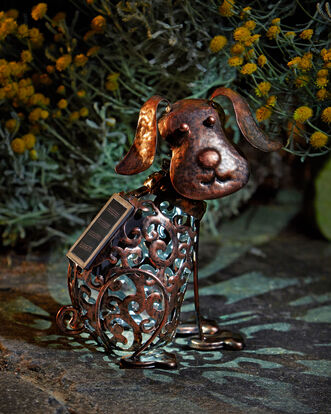 Solar Dog Ornament