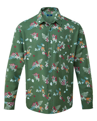 Floral Print Long Sleeve Soft Touch Shirt