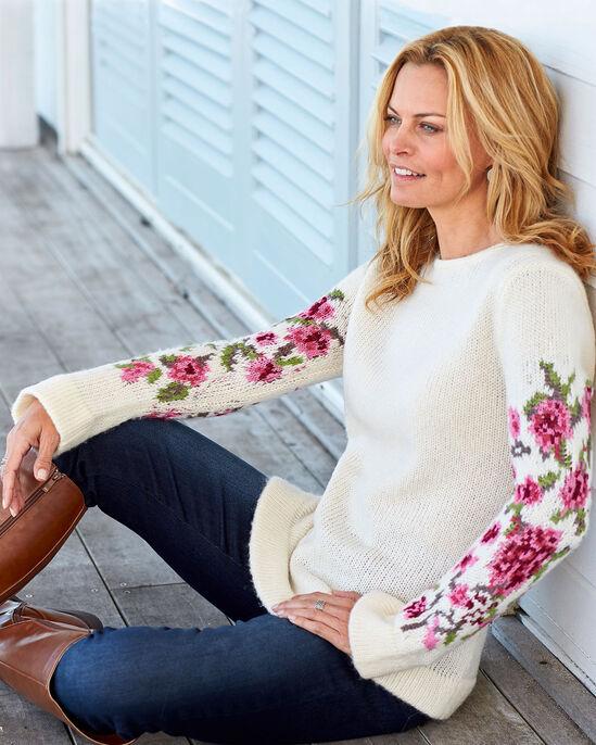 Floral Sleeve Jumper
