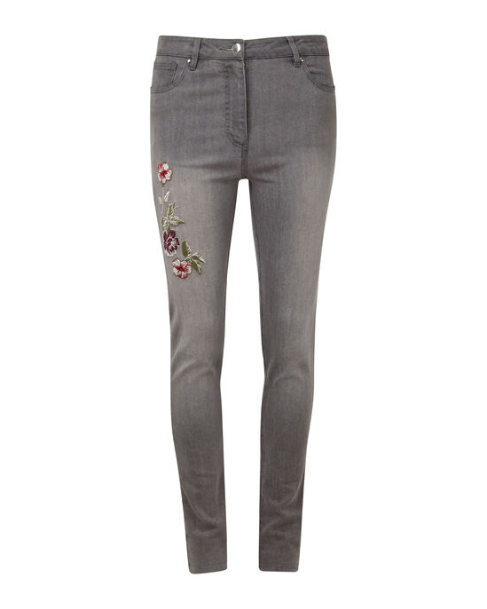 Embroidered Stretch Jeans