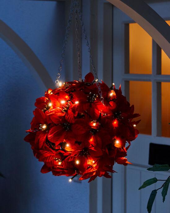 Light Up Poinsettia Ball