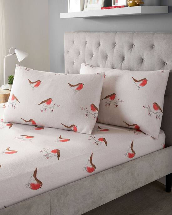 Robin Check Brushed Cotton Fitted Sheet Set