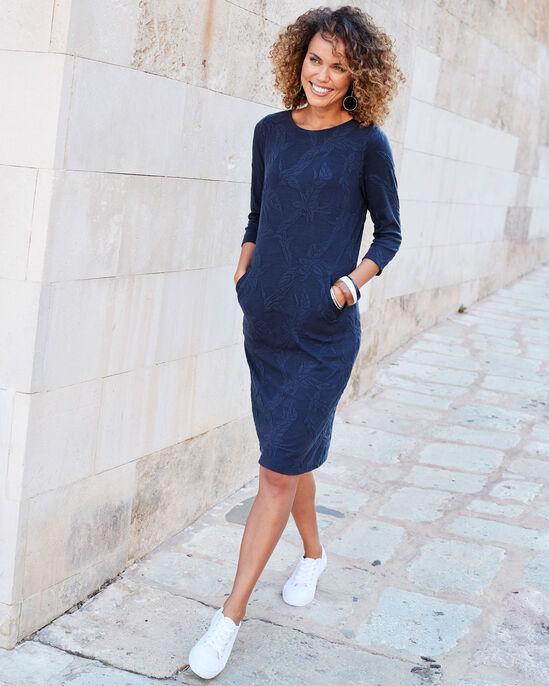 Jersey Jacquard Travel Dress