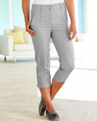 Elasticated Waist Crop Trousers