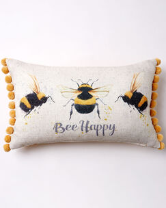 Pom Pom Bee Cushion