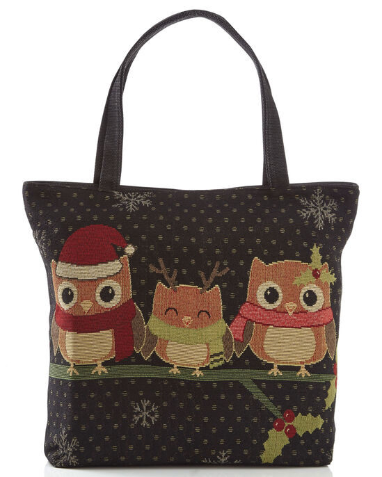 Embroidered Owl Bag