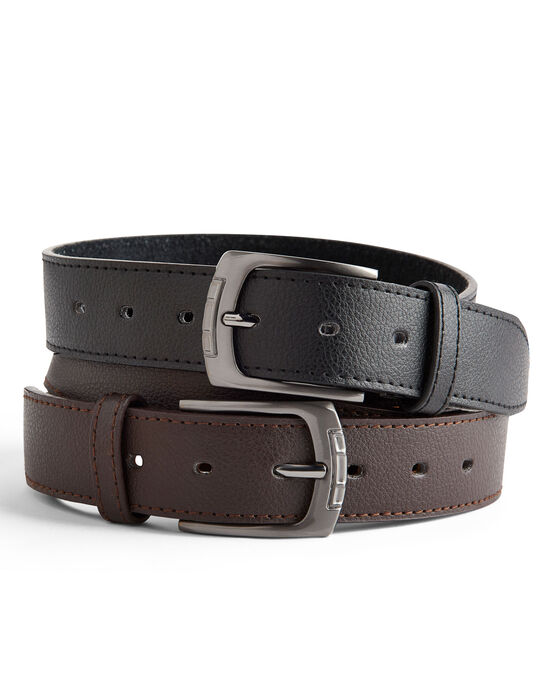Pack 2 Leather Lined Belts
