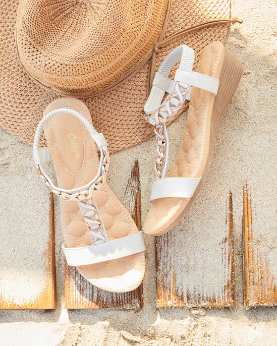 Cushioned Embellished Sandals