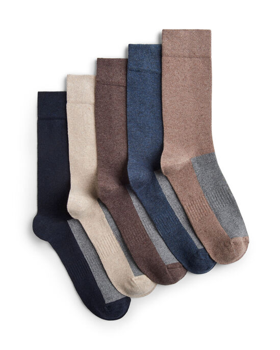 5 Pack Anti-Bacterial Arch Support Socks