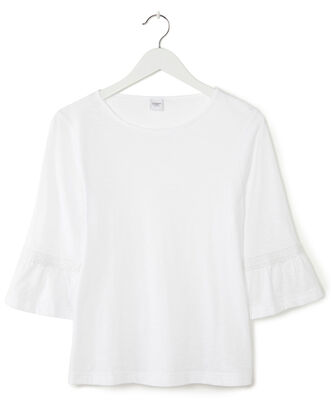 Flared Sleeve Jersey Top