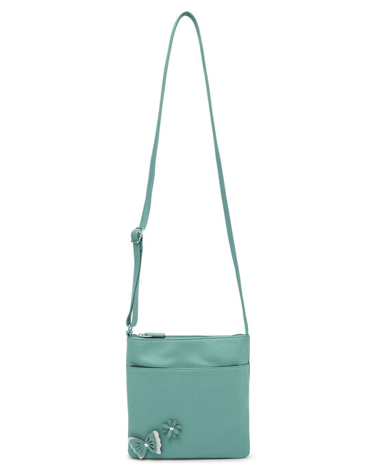 Butterfly and Floral Cross Body Bag